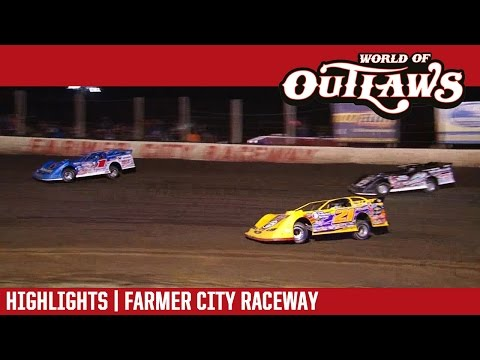 World of Outlaws Craftsman Late Models Farmer City Raceway April 1, 2017 | HIGHLIGHTS