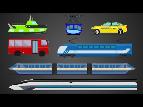 Public Transport | Learn Public Vehicles | Street Vehicles