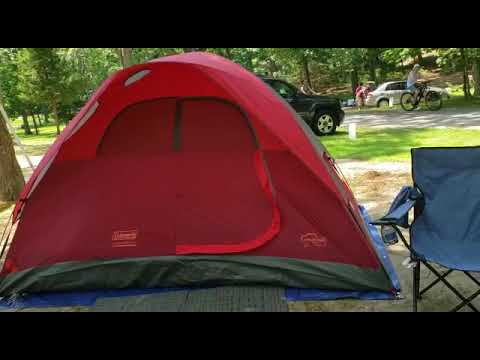 Wildwood State Park Tent camping Long Island NY 2019 - YouTube