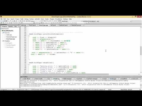 C++ Stock Market Group Project