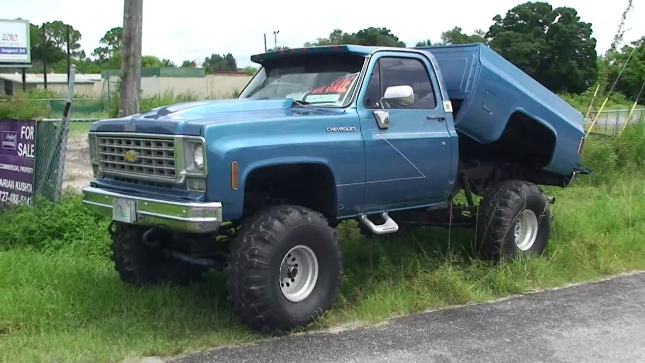SWEET REDNECK 4WD CHEVY 4X4 SHORT BED DUMP BED FOR SALE ...