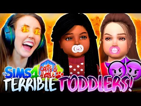 TWO TODDLERS IS SO HARD!!😓 (The Sims 4 CATS & DOGS #11🏖)