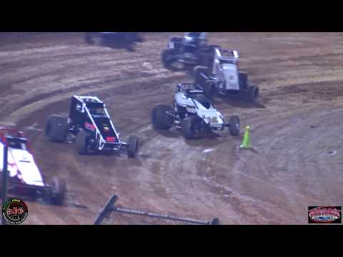 Placerville Speedway August 10th, 2019 Hunt Wingless Sprint Cars Main Event Highlights