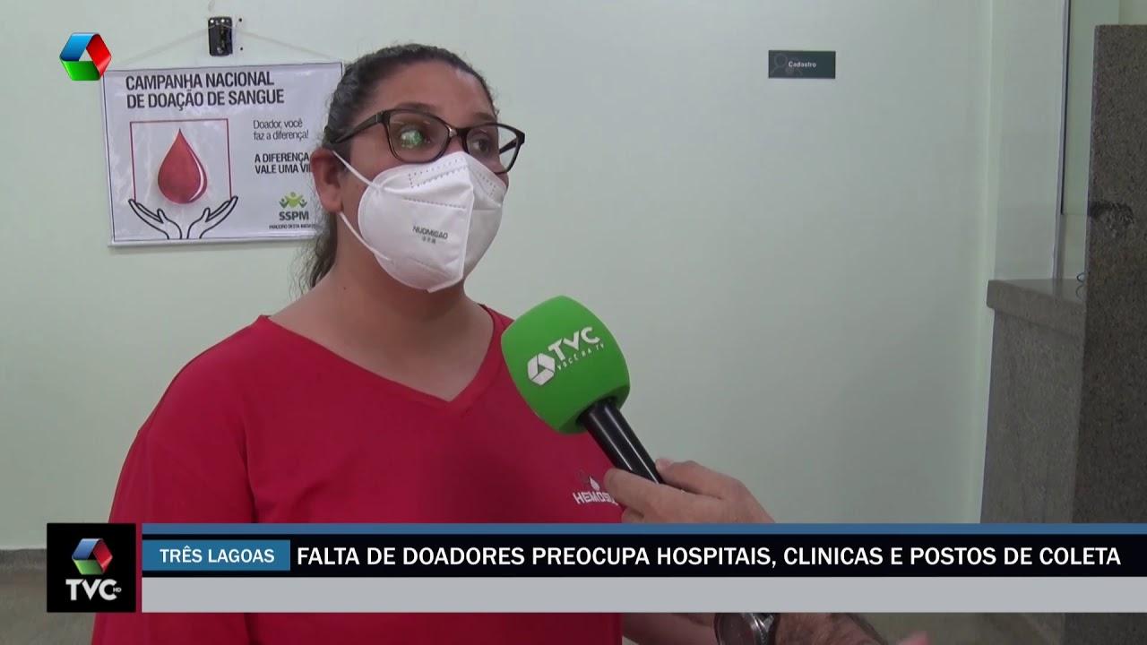 Falta de doadores preocupa hospitais, clinicas e postos de coleta