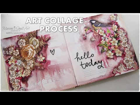 Art Collage Journal Page Process ♡ Maremi's Small Art ♡