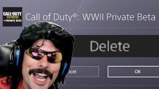 DrDisRespect Uninstalls the Call of Duty WW2 Beta!