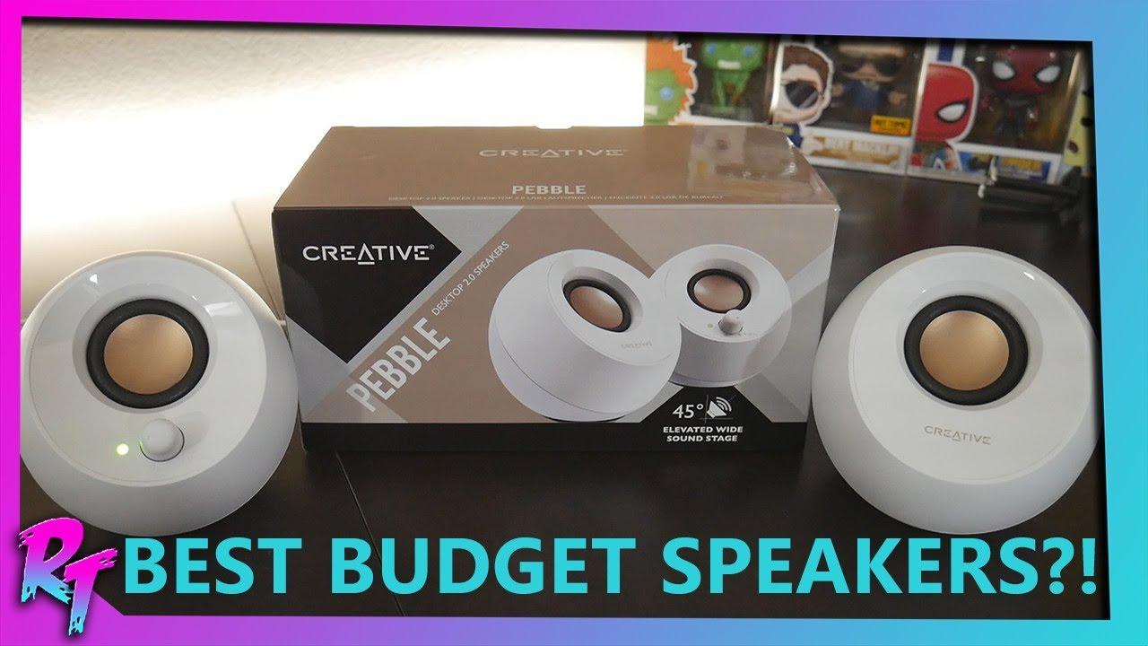 White CREATIVE LABS Pebble Modern 2.0 USB Desktop Speakers