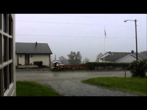 Haglstorm i Sandnessjøen 30.07.2013