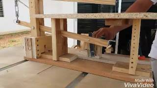 Homemade scroll saw drill powered