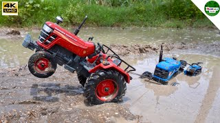 TRACTOR VIDEOS | ACE Tractor Stuck in Mud & Rescue Mahindra Tractor | Toy tractor videos