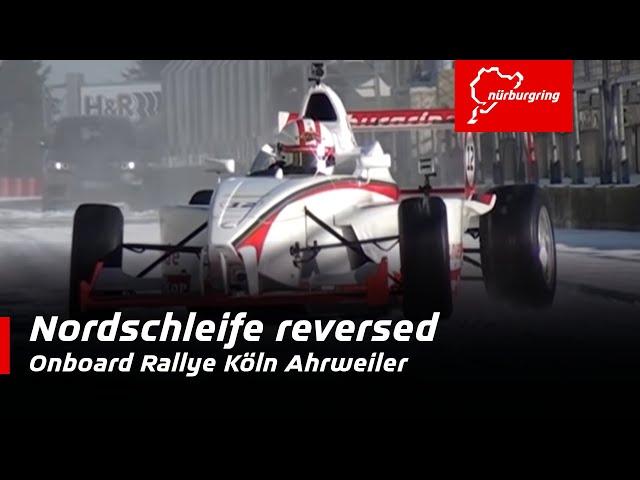NÜRBURGRING onboard | Formel-Fahrzeug vs.Schnee auf der Nordschleife
