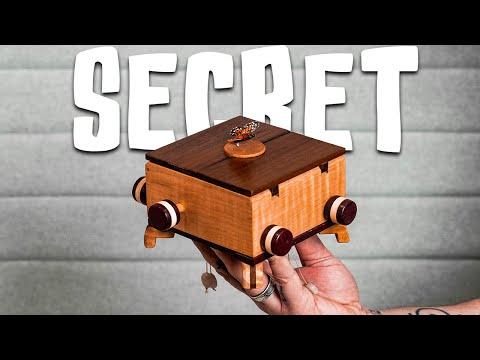 This Mechanical Puzzle Box Holds A SECRET!!