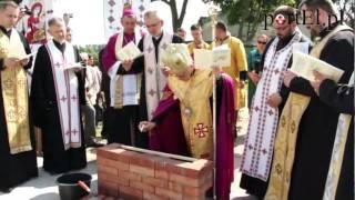 Cerkiew Greckokatolicka w Elblągu - wmurowanie aktu erekcyjnego