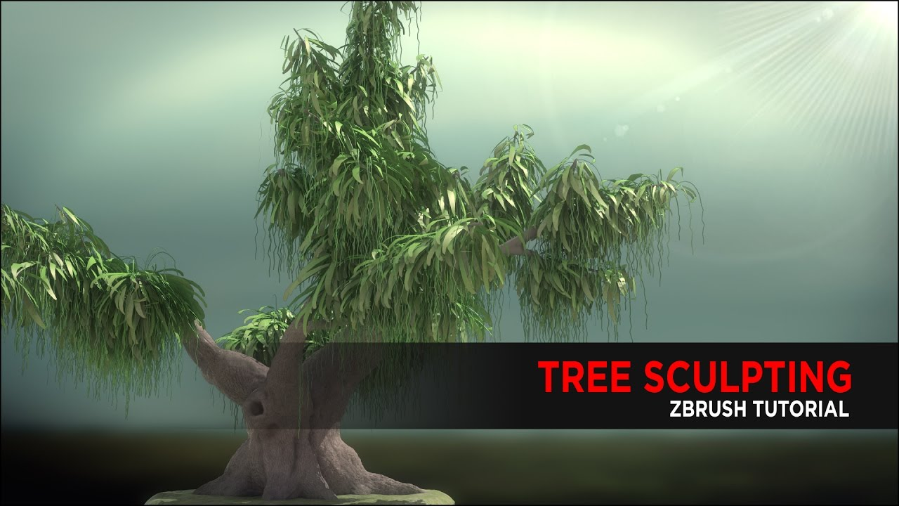 Tree Sculpting Tutorial using ZBrush