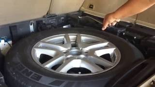 bmw special helps extras in spare wheel tire change how to x5 e53 tyre