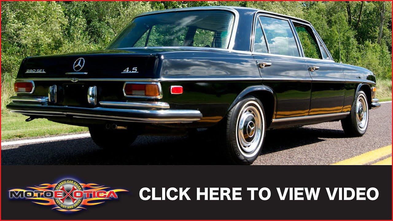 Black Mercedes 280 1971 Benz