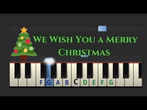 Easy Piano Tutorial: We Wish You A Merry Christmas slow speed