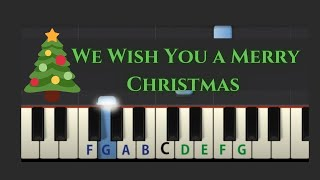 Easy Piano Tutorial: We Wish You A Merry Christmas