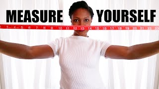 HOW TO MEASURE YOUŔSELF for Online Shopping & Sewing | BlueprintDIY
