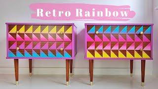 Rainbow Gradient  Geometric Design  Painted Furniture  Tannin Bleeds