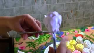 видеоурок  розы на торт из белкового крема