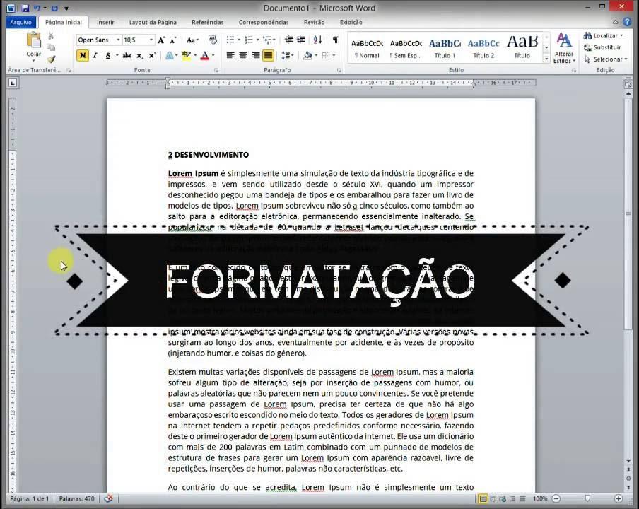 Formatação de texto conforme abnt