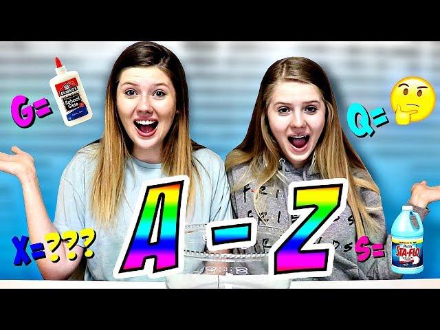 Making Slime in Alphabetical Order || Taylor & Vanessa