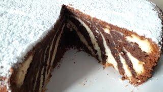 Торт Зебра с творогом (17)