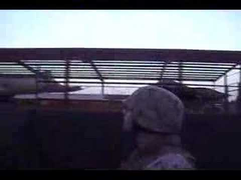 In Humvee. Camp Fallujah Iraq