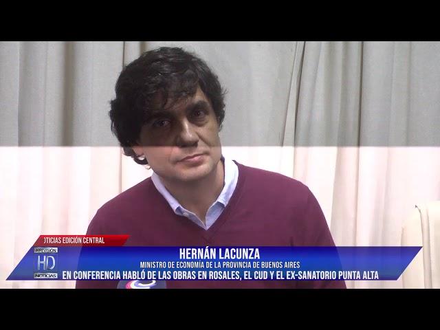 El Ministro de Economía Bonaerense Hernán Lacunza estuvo en Punta Alta