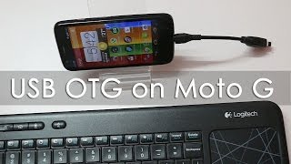 Moto G Android Phone USB OTG Functionality Demo
