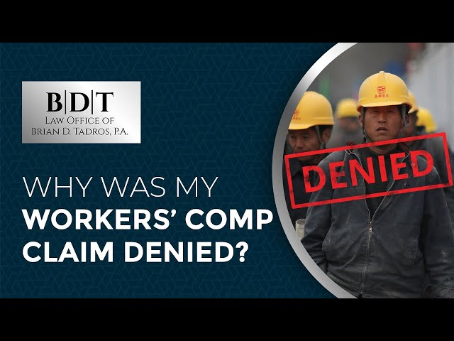 Why Was My Workers' Comp Claim Denied?