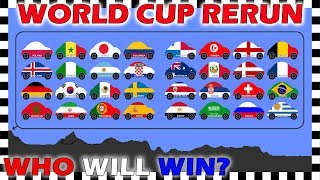 Country Cars World Cup 2018 Rerun - Who Will Win? - Algodoo