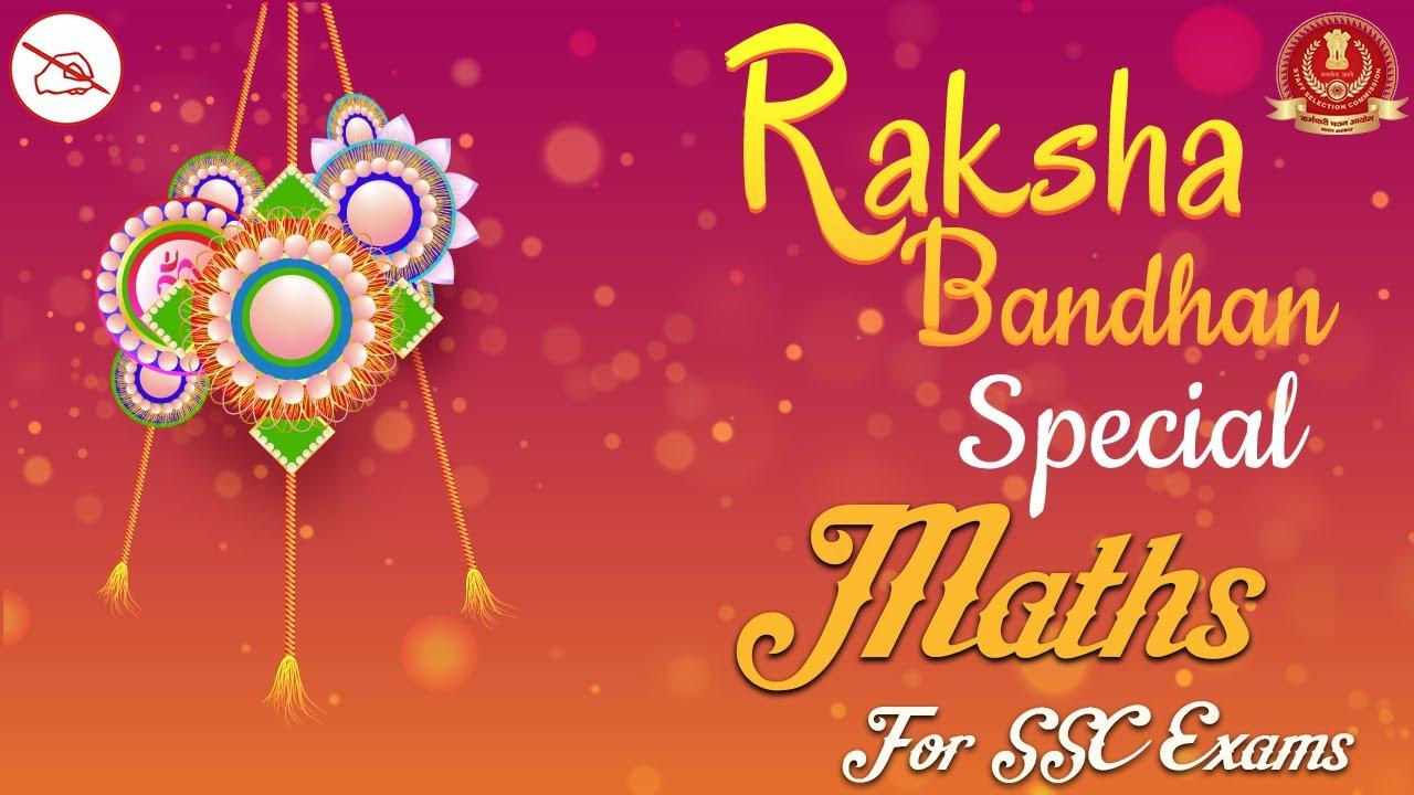 Maths   SSC Exams   Raksha Bandhan Special Lecture   By Arjun Mahendras