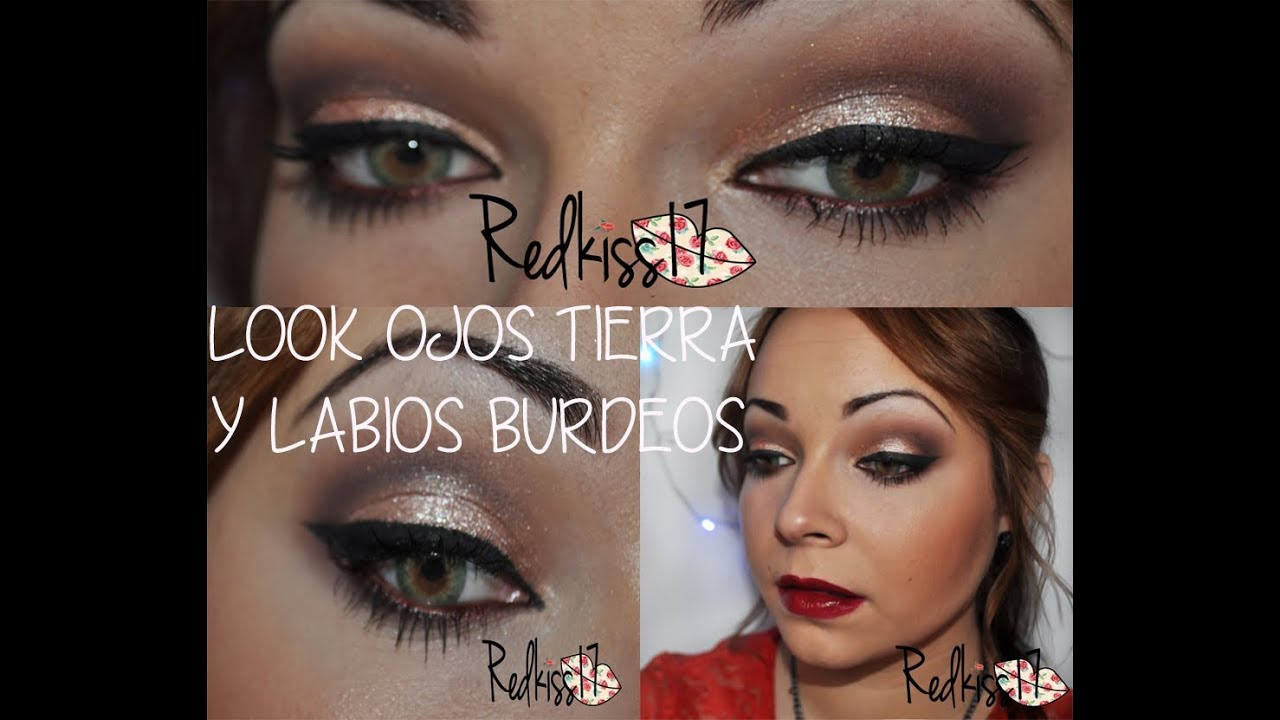 Tutorial look ojos tierra labios burdeos youtube for Labios burdeos