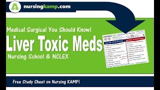 Liver Toxic Medication Med Surg KAMP NCLEX MEDS Nursing KAMP