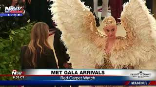 LOOK AT THAT: Katy Perry makes angelic Met Gala red carpet appearance (FNN)