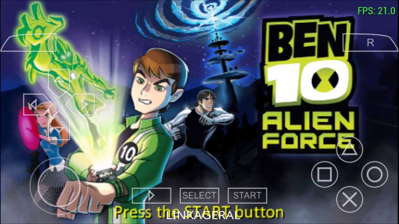 Ben 10 Alien Force: alien force for android with ppsspp