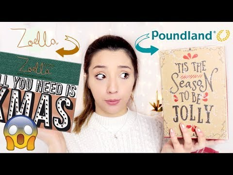 I Bought Zoella\'s Advent Calendar in POUNDLAND! | ThoseRosieDays