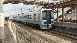 JR川部駅 五能線 弘前行き発車【GV-E400系・2529D】 2021.03.26
