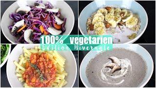 100% végétarien | Une journée dans mon assiette - HIVER