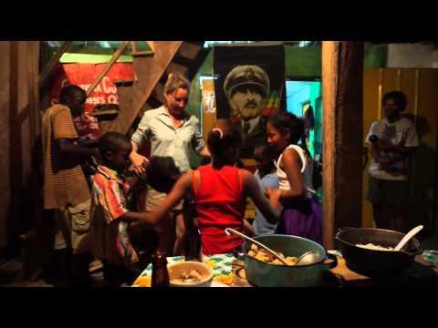Dancing to Garifuna Drumming in Livingston Guatemala