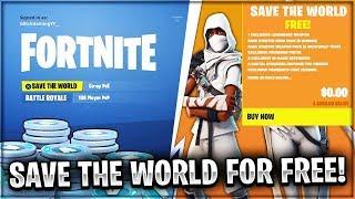*NEW* Fortnite SAVE THE WORLD For FREE Glitch! | *100% WORKING JULY 2018* (Fortnite STW Free Glitch)
