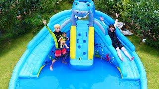 인기동요 놀이 영어 배우기 상어 수영장 미끄럼틀 워터파크 바쿠간 Water Slide Song Nursery Rhymes for kids songs & children