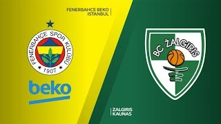 Fenerbahce Beko Istanbul -Zalgiris Kaunas Highlights | Turkish Airlines EuroLeague PO Game 2