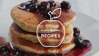 Almond Flaxseed Pancakes With Blueberry Maple Syrup