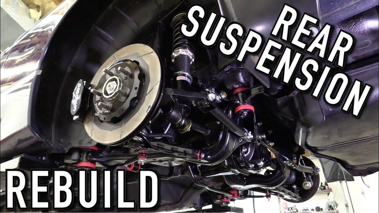 Rebuilding The Rear Suspension & Installing Custom Axles: 240SX Restomod  Ep 21