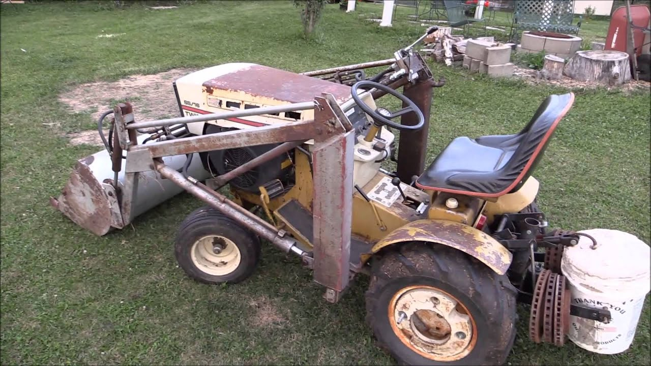 1973 Sears Ss 16 V Twin With Kwik Way Front End Loader