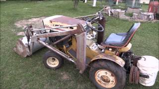 1973 Sears SS/16 V-Twin with Kwik Way Front End Loader