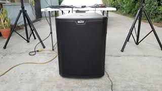 Alto Ts 312 with Alto Ts218S subwoofer Outdoor sound test ( no talking )
